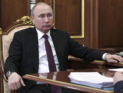 El presidente de Rusia, Vladímir Putin, este lunes en el Kremlin.