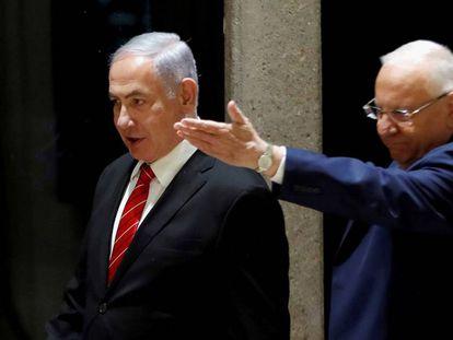 El presidente de Israel, Reuven Rivlin, y Benjamín Netanyahu, el día 25 en Jerusalén.