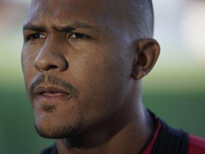 Salomón Rondón, en la concentración de Venezuela en Río de Janeiro.