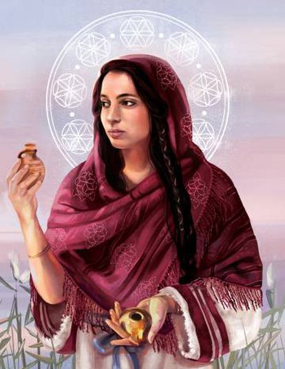 Ilustración de Danielle Storey para la portada de 'María Magdalena: percepciones desde la antigua Magdala.