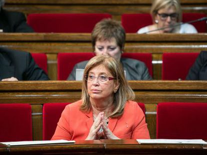 Irene Rigau, en el Parlament.