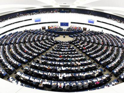 Panorámica del Parlamento Europeo en Estrasburgo (Francia).