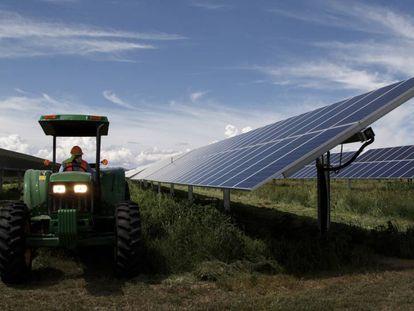Parque solar con 850.000 paneles, en el Estado de Guanajuato.