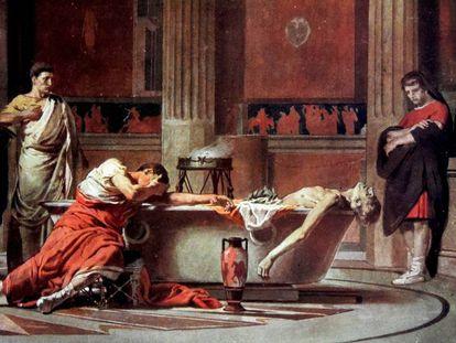 'La muerte de Séneca', de Manuel Domínguez Sánchez.