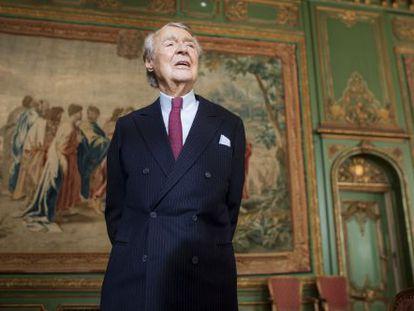 Berthold Beitz, dirigente industrial alemán, en la sede de la Fundación Krupp, en 2011.