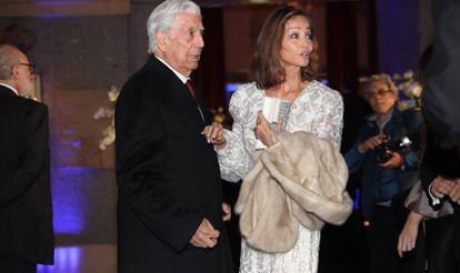 Isabel Preysler y Mario Vargas Llosa, en la ópera de Madrid.