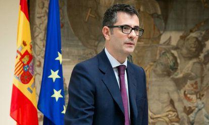 El secretario general de la Presidencia, Félix Bolaños, toma posesión de su cargo.