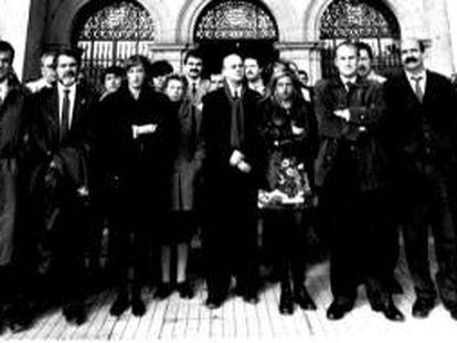 Todos los partidos menos HB se concentraron en San Sebastián en el primer aniversario del asesinato de Goyo Ordóñez.