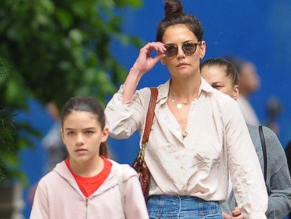 Katie Holmes y Suri Cruise, en junio de 2019 en Nueva York