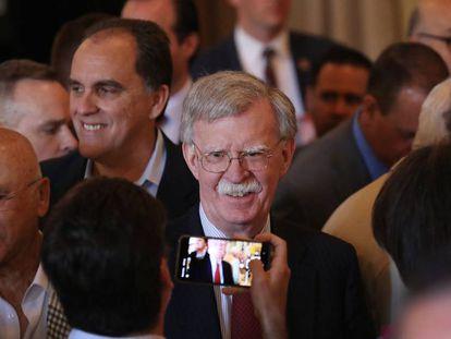 John Bolton, el asesor de Seguridad Nacional del presidente de EE UU, Donald Trump, el pasado 17 de abril en Coral Gables, Florida.