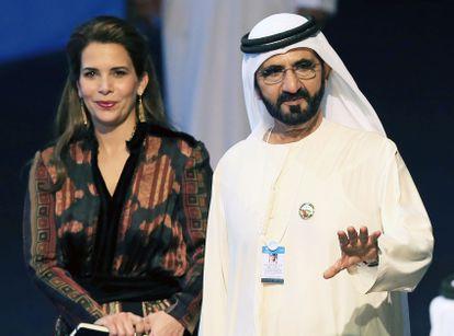 El jeque Mohamed Bin Rashid al Maktum, con su exesposa la princesa Haya, en 2017.