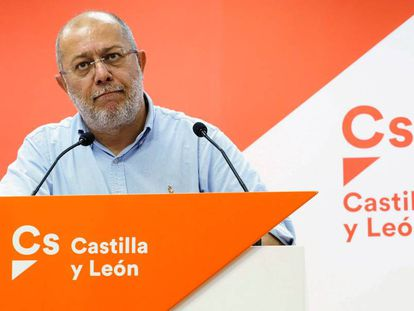 El candidato de Cs a la Junta de Castilla y León, Francisco Igea, en una rueda de prensa.