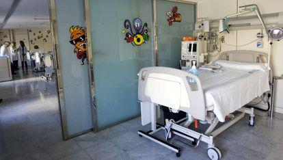 Sala de diálisis en un hospital catalán.