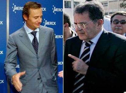 Ernesto Bertarelli, a la izquierda. Romano Prodi a la derecha.