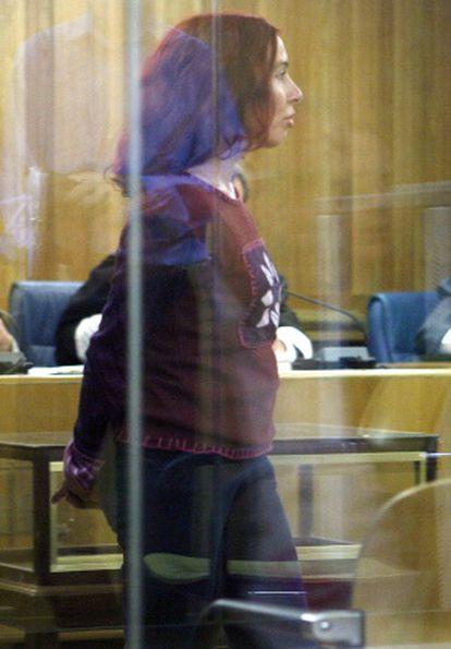 La etarra Inés del Río, durante un juicio en la Audiencia.