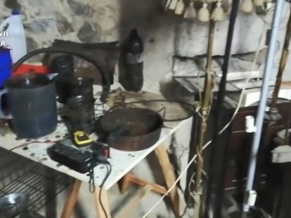 El vídeo de la Guardia Civil del material incautado a los detenidos acusados de planear atentados