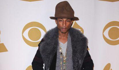 Pharrell Williams en Los Ángeles, en enero de 2014.