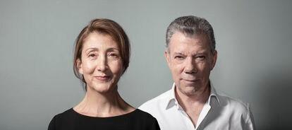 Ingrid Betacourt y Juan Manuel Santos: retratos pertenecientes al libro 'Una conversación pendiente', de Juan Carlos Torres.