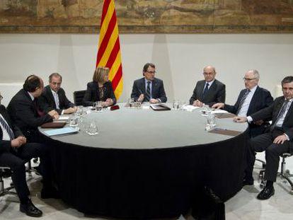 Reunión de Artur Mas con representantes de los organismos de control institucional en Cataluña.