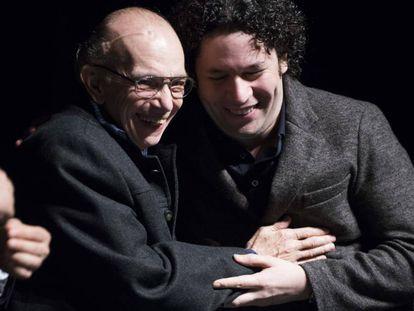 Abreu y Dudamel, en un acto en San Francisco en 2012.