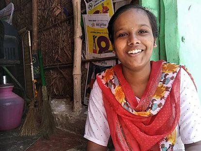 R Sangamithra, una de las adolescentes participantes desde India.