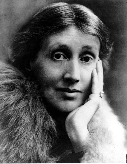 British writer Virginia Woolf, photographed in London, with no exact date.