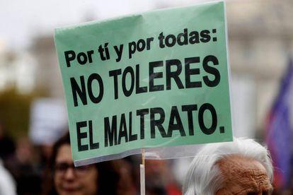 Pancarta de la manifestación del pasado 25 de noviembre contra la violencia de género.