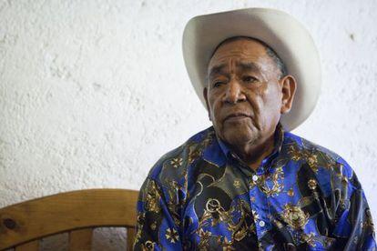 José Romero, gobernador tradicional guarijío, este martes en el Distrito Federal.