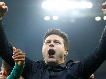 Pochettino celebra el pase del Tottenham a las semifinales.