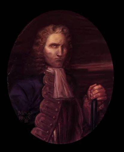 Homenaje al cuadro de Blas de Lezo incluido en la novela gráfica 'Lezo'.