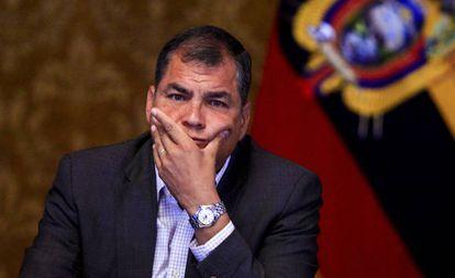 El presidente de Ecuador, Rafael Correa, en una foto de archivo.