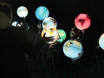 Imagen de la exposición 'Big Bang Data' en la Fundación Telefónica (Madrid).