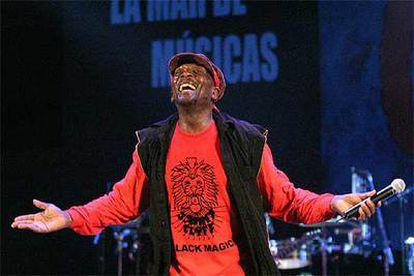 Jimmy Cliff, durante su actuación en Cartagena.