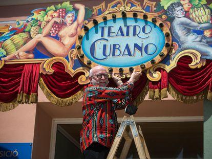 Jordi Milán, director de la Cubana presenta la exposición en motivo del 40º aniversario de la compañía.