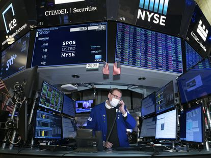 Un analista en la Bolsa de Nueva York la semana pasada.