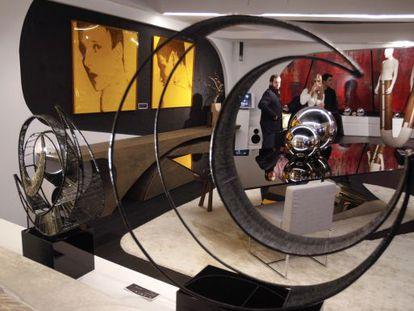 Obras de Joaquín Torres expuestas en el estudio A-cero de Madrid.