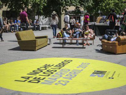 La plaza de Pérez Bustillo, nuevo emplazamiento elegido por la Comunidad para La Noche de los Libros.