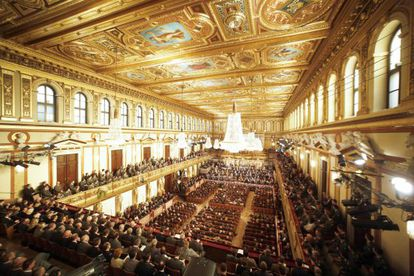 Vista del Musikverein de Viena en el ensayo del Concierto de Año Nuevo celebrado el 30 de diciembre de 2012.