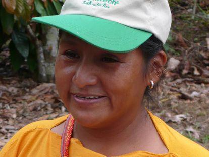 La agricultora peruana Olinda Ataucusi.