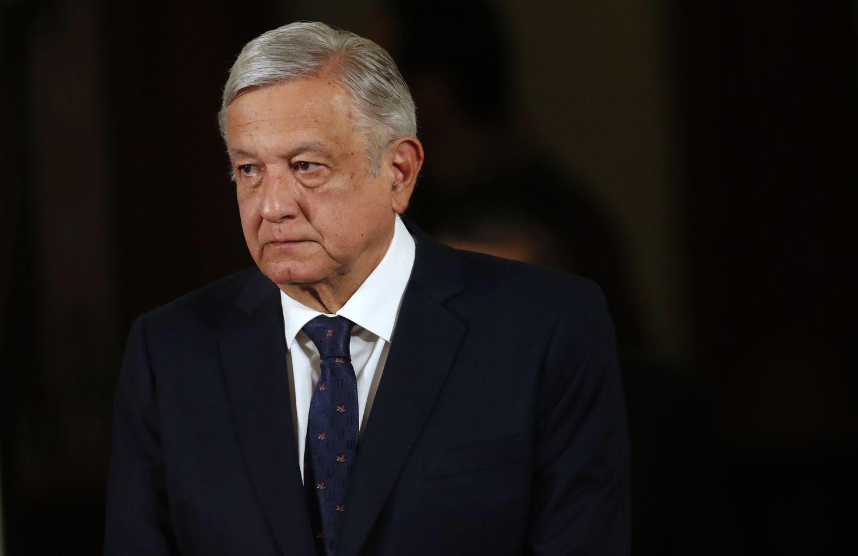 El presidente, Andrés Manuel López Obrador, el 24 de marzo, durante su conferencia matutina.