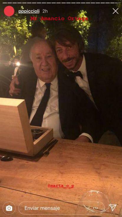 Amancio Ortega junto a Pierpaolo Piccioli, el pasado viernes.