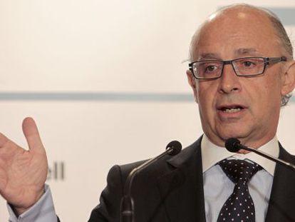 El coordinador de Economía del Partido Popular, Cristóbal Montoro.