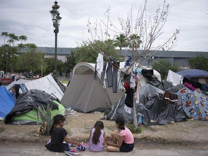 Campamento de migrantes en Reynosa, Tamaulipas, el pasado 4 de mayo.