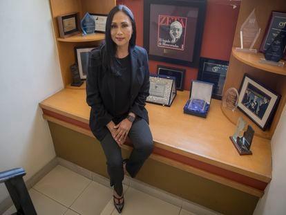 Adela Navarro, directora del Semanario Zeta, este miércoles en la redacción.