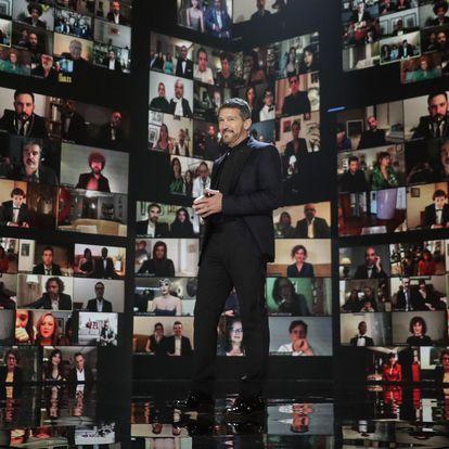 Antonio Banderas abre la gala de los Premios Goya 2021. FOTO: @ Miguel A. Cordoba