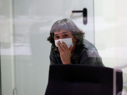 La etarra Soledad Iparraguirre, 'Anboto', durante un juicio en la Audiencia Nacional el pasado 9 de marzo.