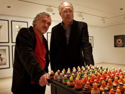 El pastelero Francisco Torreblanca y el fotógrafo Francesc Guillamet, en el IVAM