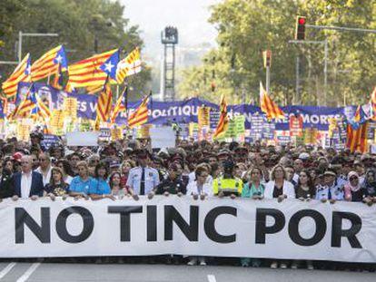 Miles de asistentes han abucheado al Rey, Rajoy y demás miembros de las instituciones del Estado