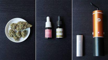 Cannabis, aceites de cannabis y vaporizadores.