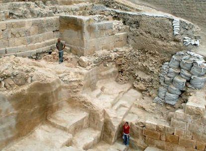 Restos de la muralla descubierta en Jerusalén durante los trabajos de excavación